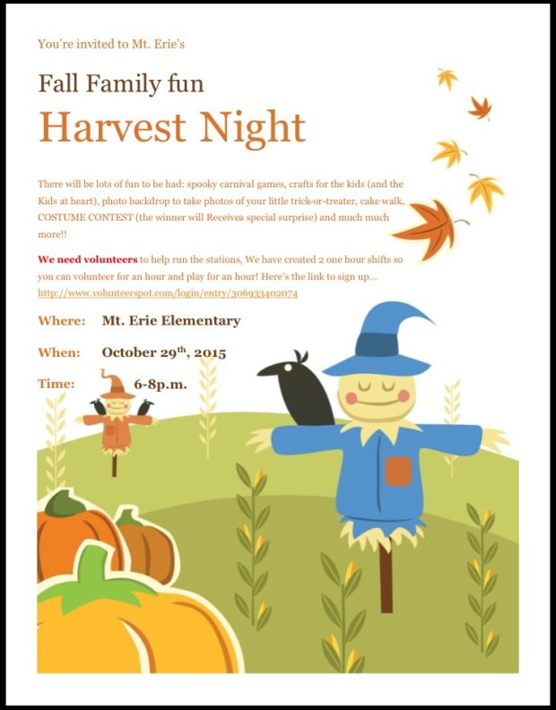 Related Harvest Festival Fall Family Night