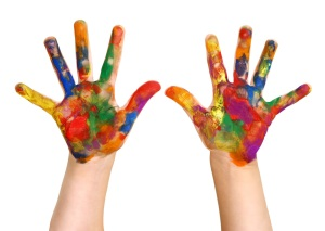 kids-painted-hands
